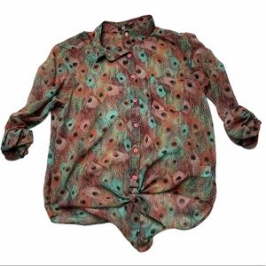 Kut from the Kloth | Peacock Feather Blouse